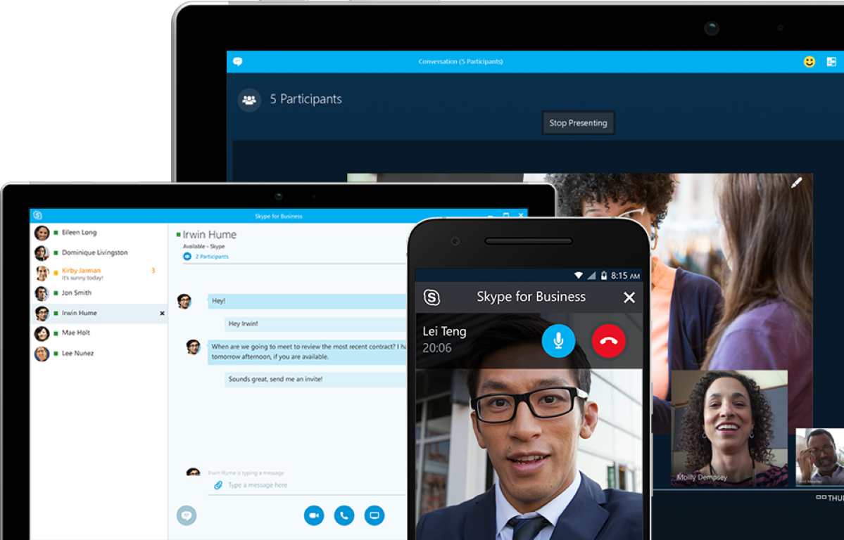 smart working - skype