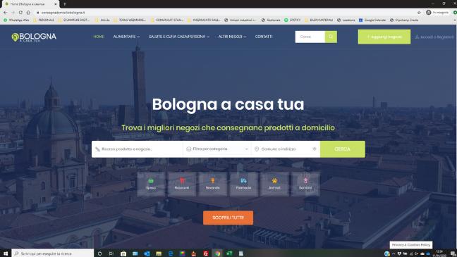 Bologna a casa Tua e consegna a domicilio: il nostro progetto per aiutare la città