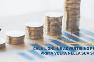 Cala l'online advertising per la prima volta nella sua storia